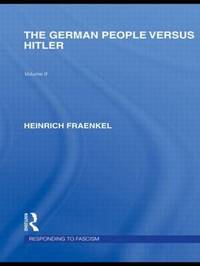 The German People versus Hitler by Heinrich Fraenkel image