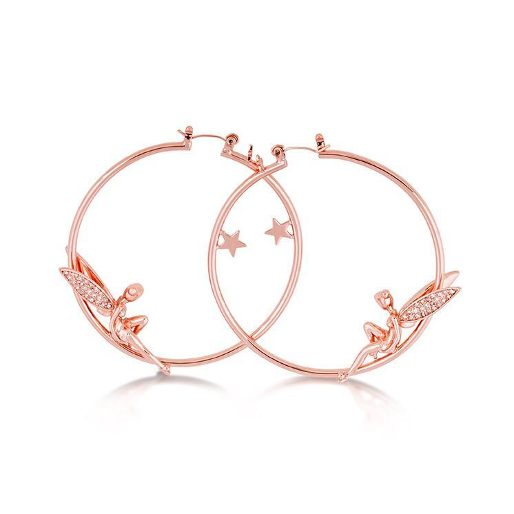 Disney Tinker Bell Hoop Earrings image