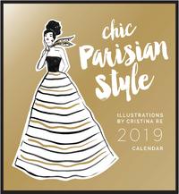 Parisian Style - Cristina Re 2019 Square Wall Calendar