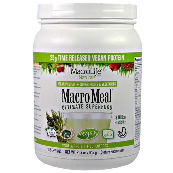 MacroLife Naturals MacroMeal Vegan Vanilla (15 servings)
