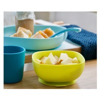 Beaba: Silicone meal set - 4 pcs/Blue