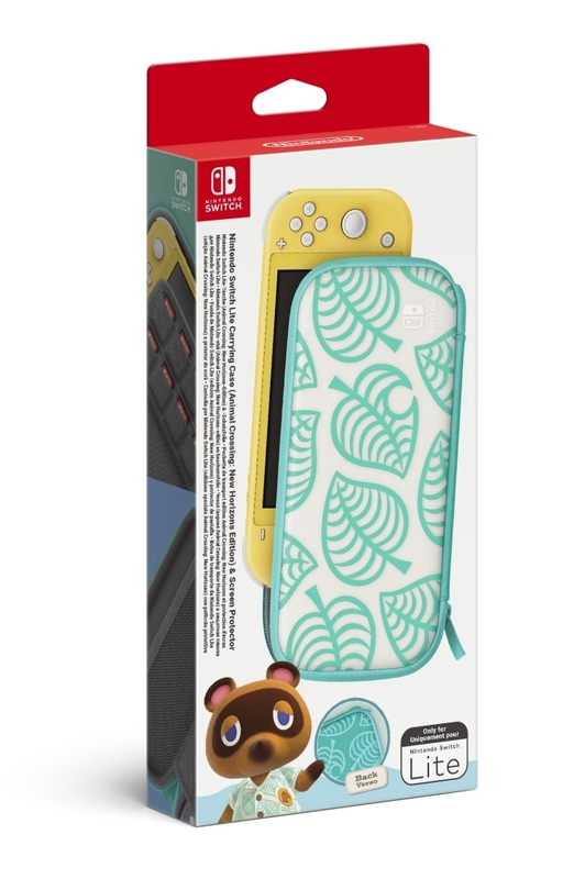 Nintendo Switch Lite Animal Crossing: New Horizons Carrying Case + Screen Protector for Switch