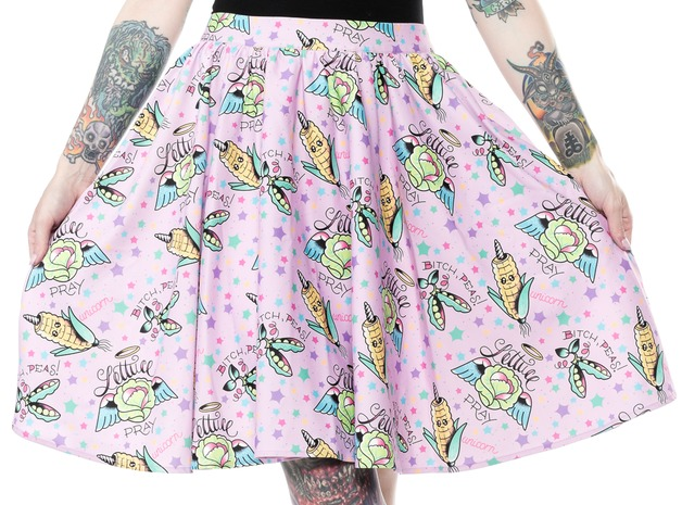 Sourpuss Pun With Food Sweets Skirt (Size XL)