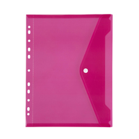 Marbig: Binder Pocket with Button Closure - Pink