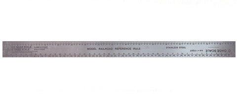 "Excel Scale Model Railroad Ruler 12"""