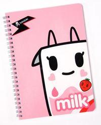 Tokidoki: Strawberry Milk Spiral Notebook