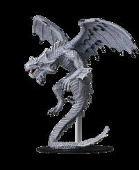 Pathfinder Deep Cuts Unpainted Miniatures - Gargantuan White Dragon image