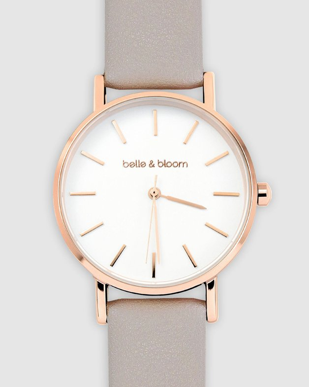Belle and Bloom: Lafayette Love Classic Watch - Rose Gold / Light Grey