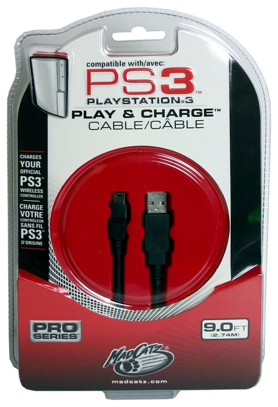 Mad Catz Play & Charge Cable for PS3
