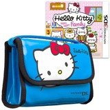 Hello Kitty Happy Happy Family & Bag Blue Bundle for Nintendo 3DS
