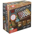 Ideal: Premium Wood Cabinet - 15 Game Set
