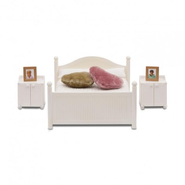 Lundby: Smaland (2015) - Bedroom Set (White)
