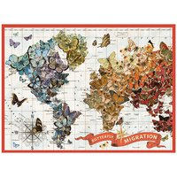 Galison: 1000 Piece Puzzle - Wendy Gold Butterfly Migra image