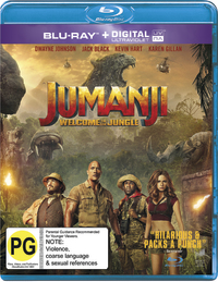 Jumanji: Welcome to the Jungle on Blu-ray, UV