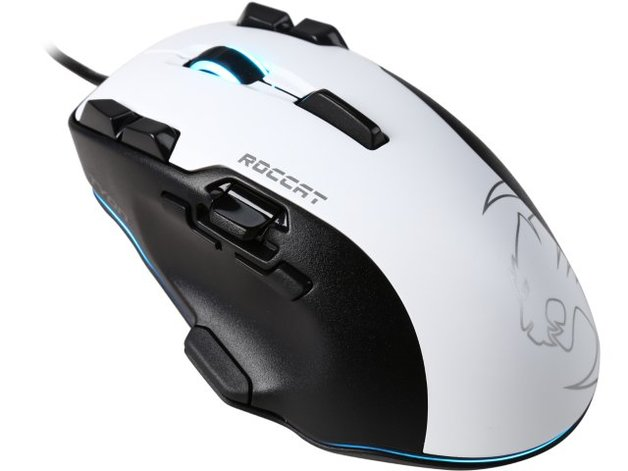 ROCCAT Tyon All Action Multi-Button Gaming Mouse - White for PC Games