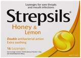 Strepsils Soothing Lozenges - Honey & Lemon (16's)