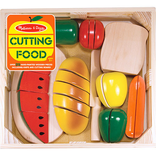 Melissa & Doug: Cutting Food Set Wooden image