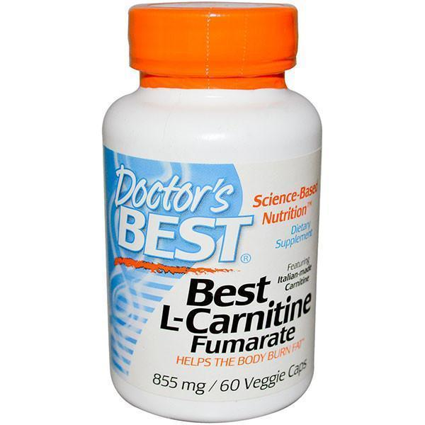 Doctor's Best L-Carnitine Fumarate 855mg (60 Veggie Capsules)