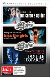 3x's - Along Came A Spider / Kiss The Girls / Double Jeopardy (1999) (Collectors Selections) (3 Disc Set) on DVD image
