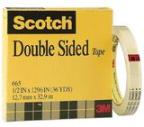 Scotch 665 Double Sided Tape Refill Roll 19mm x 33m