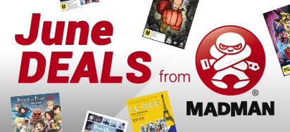June deals from Madman - Up to 50% off!
