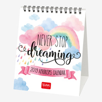 Never Stop Dreaming 2019 Desk Calendar