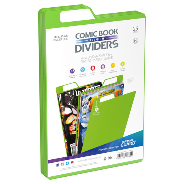 Ultimate Guard: Premium Comic Dividers - Green (25-Pack)