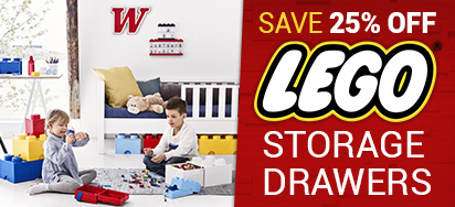 25% off LEGO Storage Drawers!