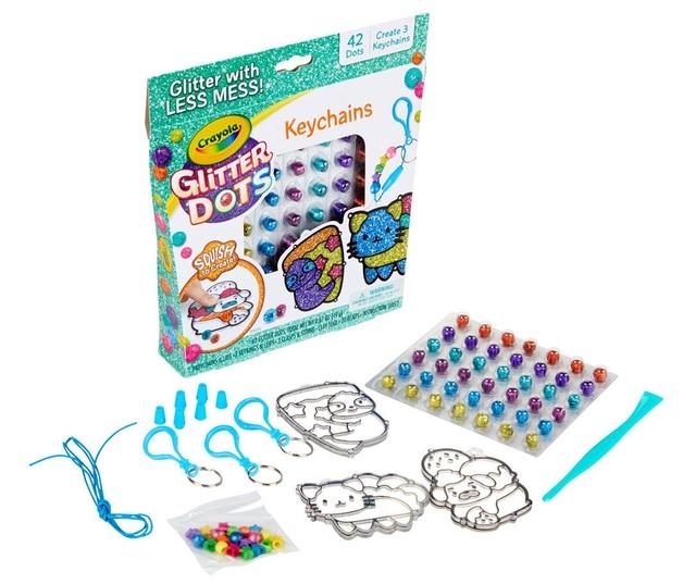 Crayola: Glitter Dots - Keychains Craft Kit