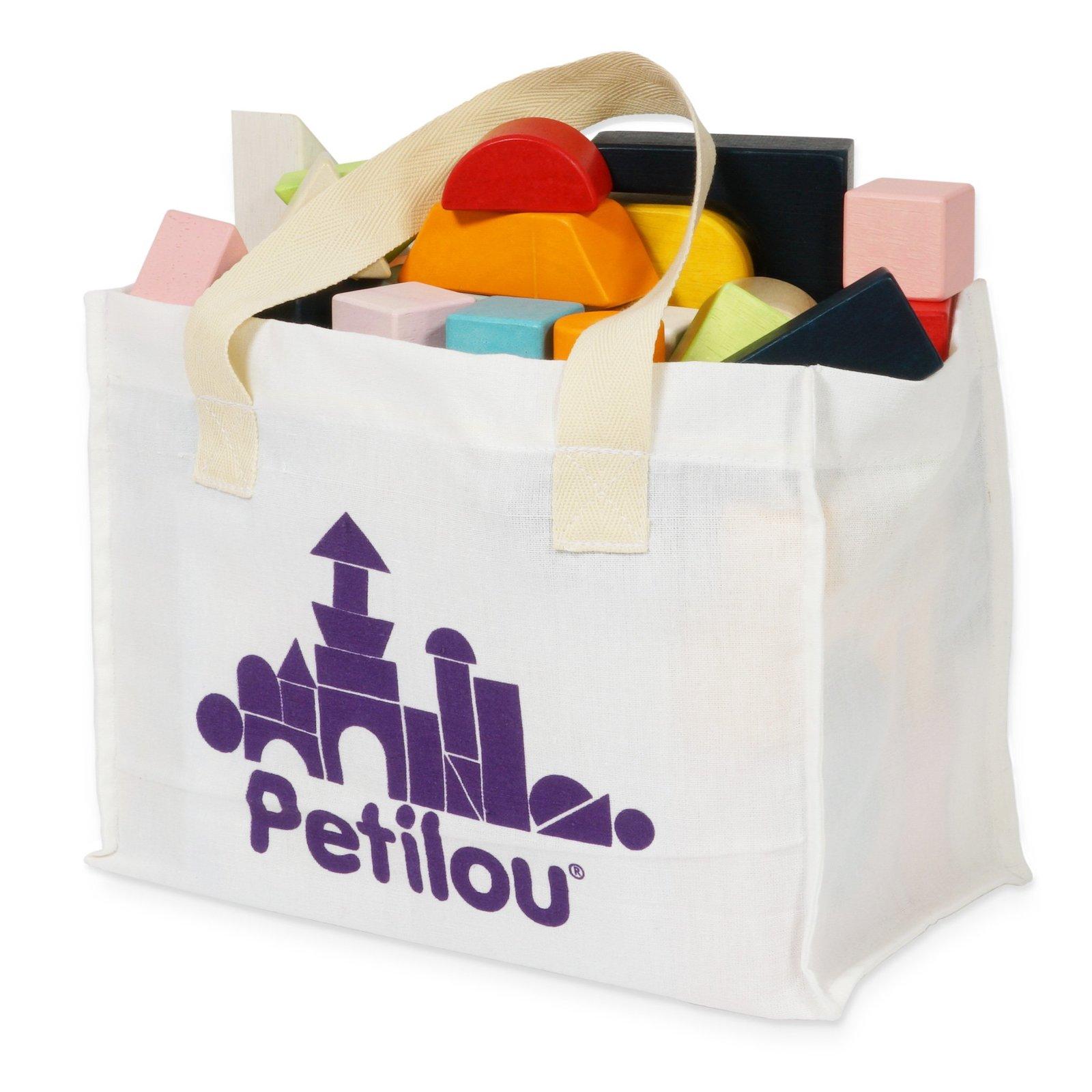 Le Toy Van - Building Blocks & Cotton Bag (60-pc) image