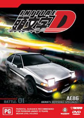 Initial D - Battle 01 - Akina's Downhill Specialist on DVD