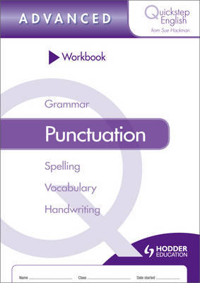 Quickstep English Workbook Punctuation Advanced Stage by Sue Hackman image