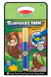 Surprize Ink! Jungle On the Go Travel Activity Book - Melissa & Doug