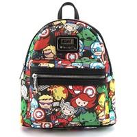 Loungefly Marvel Avengers Kawaii Print Mini Backpack image