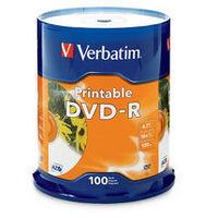 Verbatim DVD-R 4.7GB 100Pk White InkJet 16x image