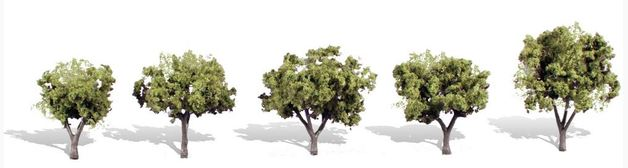 Woodland Scenics Early Light Trees (5 pack)