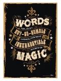 Harry Potter: Magic Words - MightyPrint Wall Art