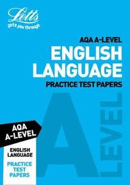 AQA A-Level English Language Practice Test Papers by Letts A-Level image