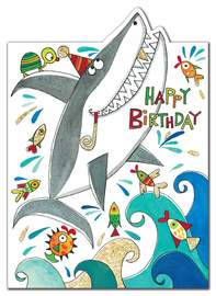 Rachel Ellen: Happy Birthday Shark Card