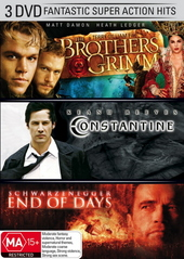 Brothers Grimm / Constantine / End Of Days (3 Disc Set) on DVD