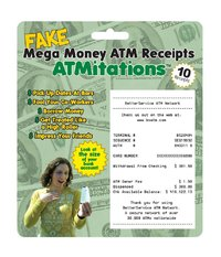 ATMitations Mega Money Fake ATM Receipts Pack Of 10