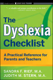 The Dyslexia Checklist by Sandra F Rief