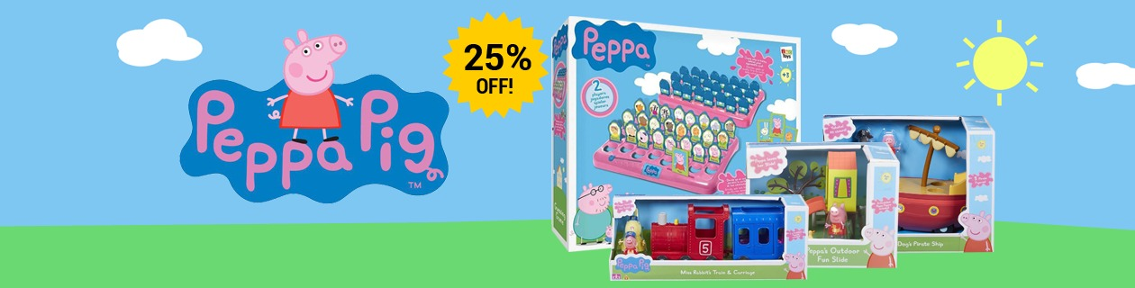 25% off Peppa Pig Toys!