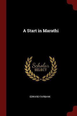 A Start in Marathi by Edward Fairbank image