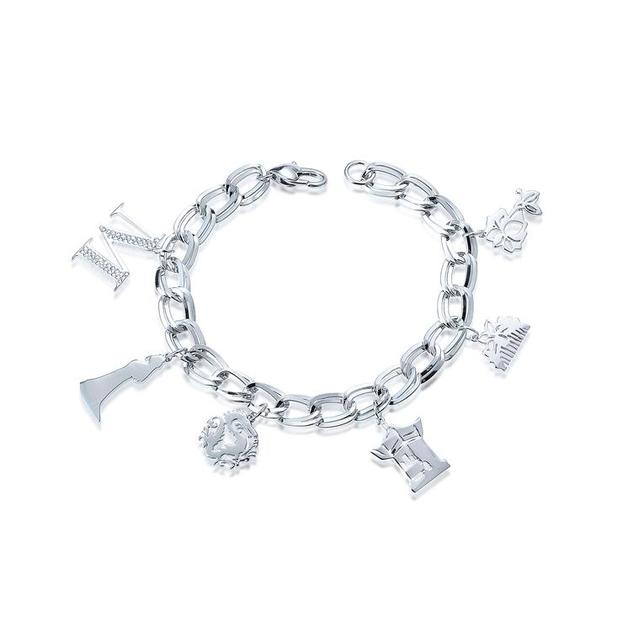 Couture Kingdom: Disney - Princess Mulan Charm Bracelet (White Gold)
