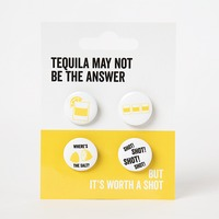 Say It Set Of 4 Badges Tequila