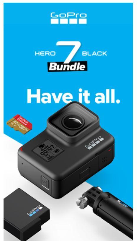 GoPro Hero7 Black - Holiday Bundle image