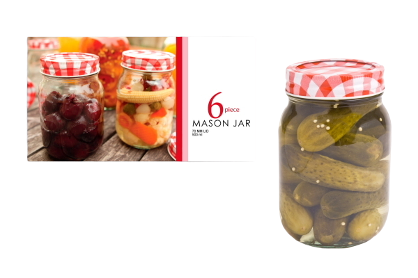 Mason Preserving Jars 500ml (Set of 6)
