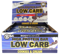 BSC High Protein Low Carb Bar - Cookies & Cream (8x60g)