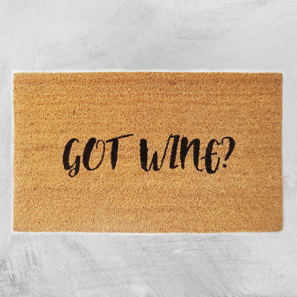 Natural Fibre Doormat - Got Wine? image